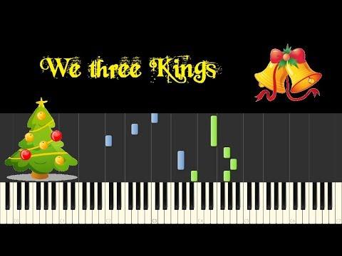 ♪ Easy Piano Tutorial: We three Kings of Orient Are - John Henry Hopkins