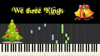 ♪ Easy Piano Tutorial: We three Kings of Orient Are - John Henry Hopkins