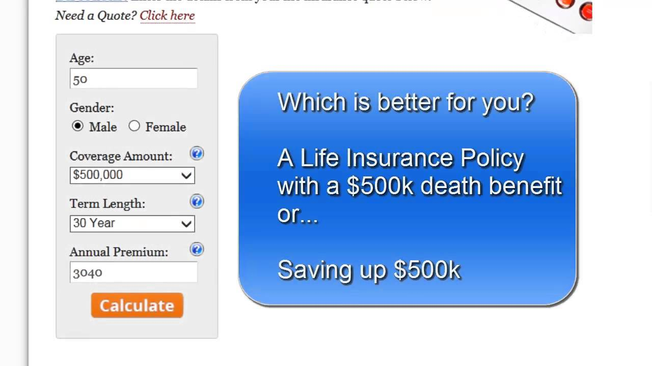 Life Insurance Quote Calculator How To Use The Wise Investment Calculator  Is Life Insurance A