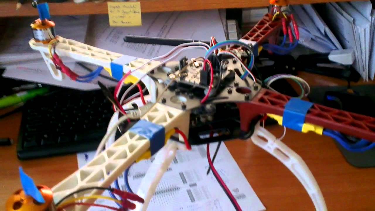 F quadcopter first power on kk flight controller