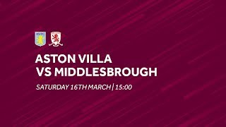 Aston Villa 3-0 Middlesbrough | Extended highlights