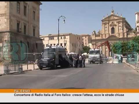 Concerto di Radio Italia al Foro Italico: ecco le strade chiuse [TgMed 30/06/2017]