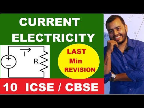 Current Electricity | Class 10 CBSE / ICSE | Equivalent Resistance | Circuit Solving | Revision