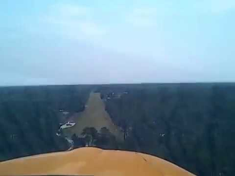 landing Holly Ridge Airport NC runway 14 April 15 2017
