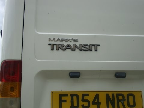 Ford Transit, dash cam and Hykee high security door lock.