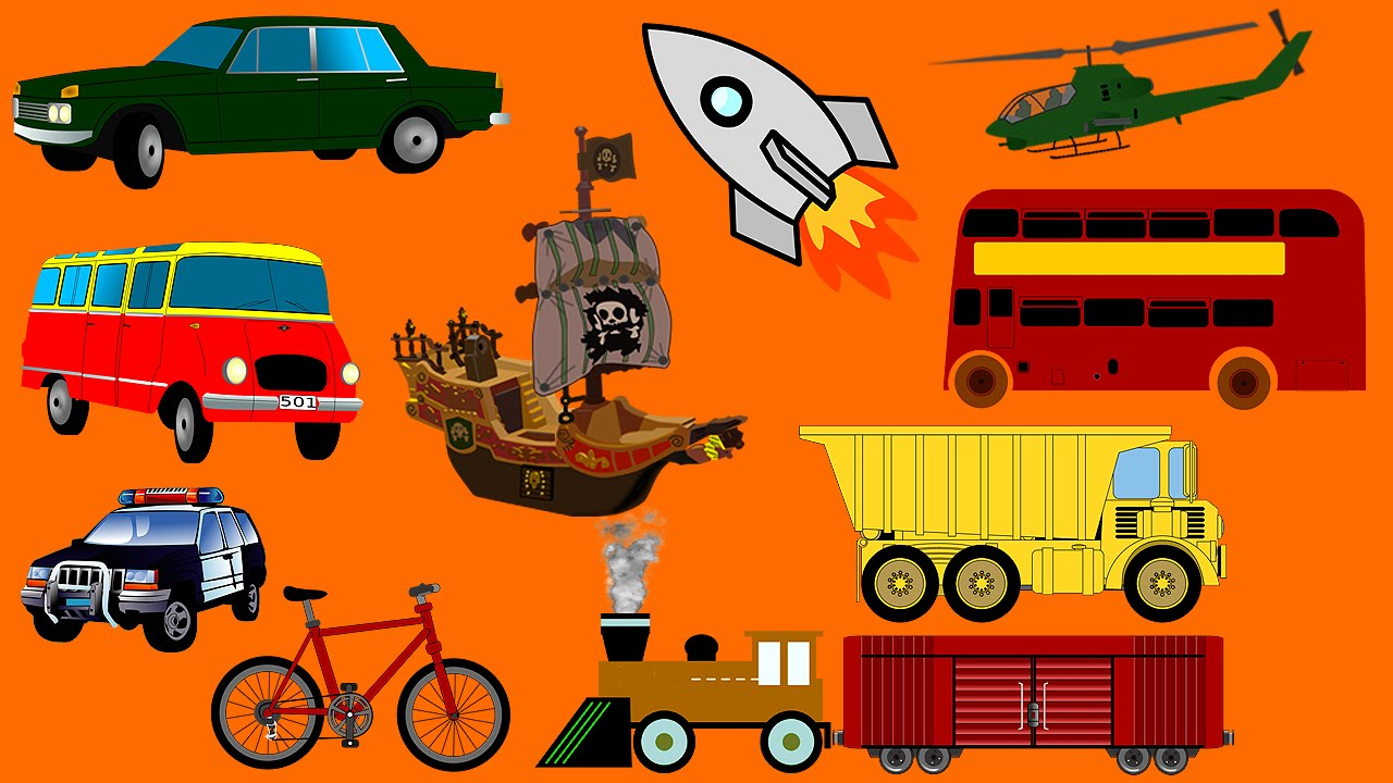 Vehicles For Children! Learn Names Of Transport Vehicles