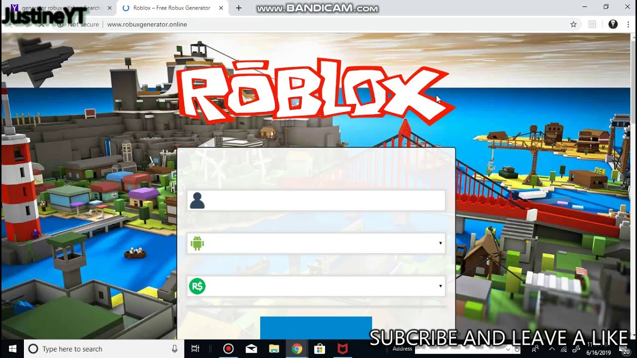 Lets Testing The Robux Generator 2019 Its Legit Or Fake Youtube