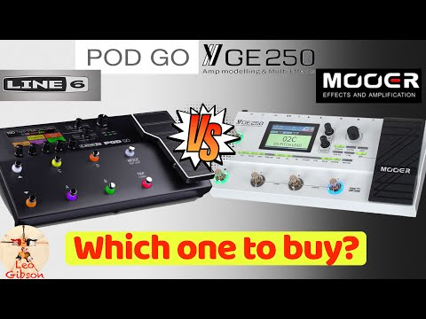 Line 6 POD GO vs MOOER GE 250: which one to buy?