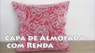 CAPA DE ALMOFADA COM RENDA