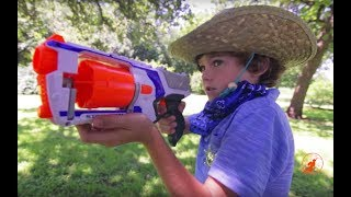 Little Heroes  28 - History of Heroes - The Fire, Bank Robbery, The Stinker & Kids Nerf Gun Battle