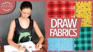 How to draw fabrics | Fashion drawing with markers | Justine Leconte