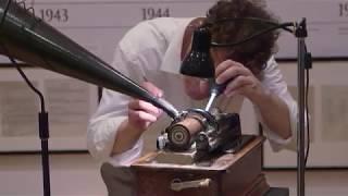 Met Opera Stars Record on Wax Cylinder Equipment