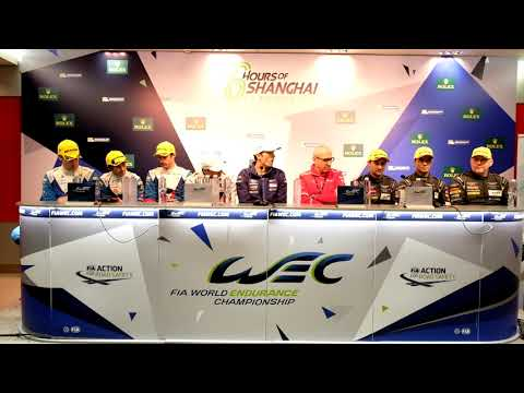 WEC - 2017 6 Hours of Shanghai - Post-Race Press Conference (Class Winners)