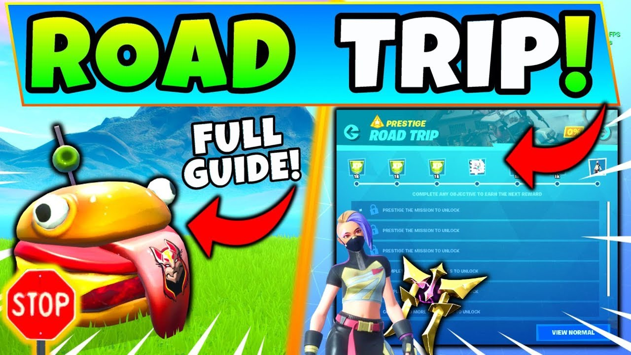Fortnite season 10 challenges and where to find stop signs, stone heads