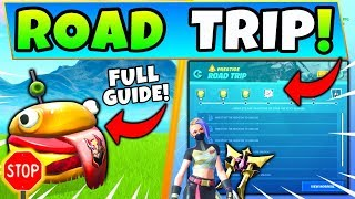 Fortnite road trip challenges guide for season 10 with the drift painted durrr burger head, dinosaur, stone head statue, and more in Fortnite Battle Royale's new ...