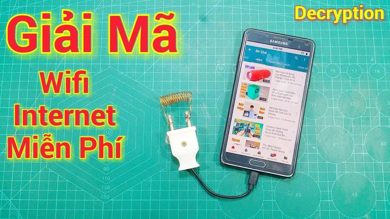 Giải Mã Wifi internet Miễn Phí Từ Phích Cắm Và Dây Đồng