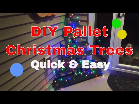DIY Pallet Christmas Tree - Quick & Easy