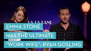 emma stone has the ultimate work wife ryan gosling