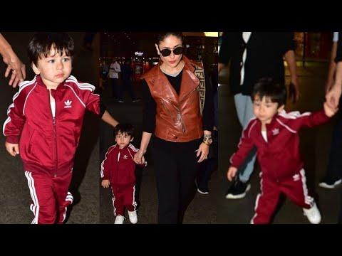Taimur Ali Khan Stylish look With Kareena Kapoor at Mumbai Airport, Return From New Year Holiday Mp3