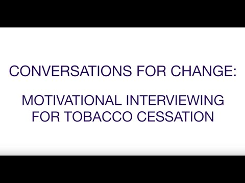 Motivational Interviewing for Tobacco Cessation