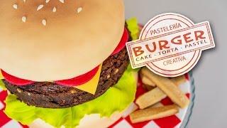 Tarta hamburguesa - burger cake | Quiero Cupcakes!