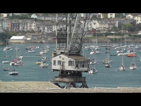 Falmouth Docks Harbour and Cranes - Explore Cornwall