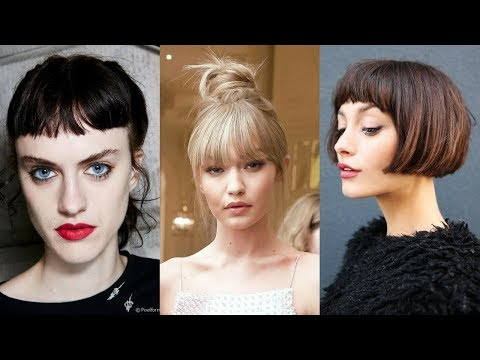 Baby Bang Haircuts & Hair Color Ideas for Spring 2018 | Hairstyles Trends