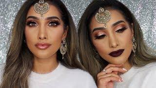 Rose Gold Indian Wedding Makeup - 2 Lip Options