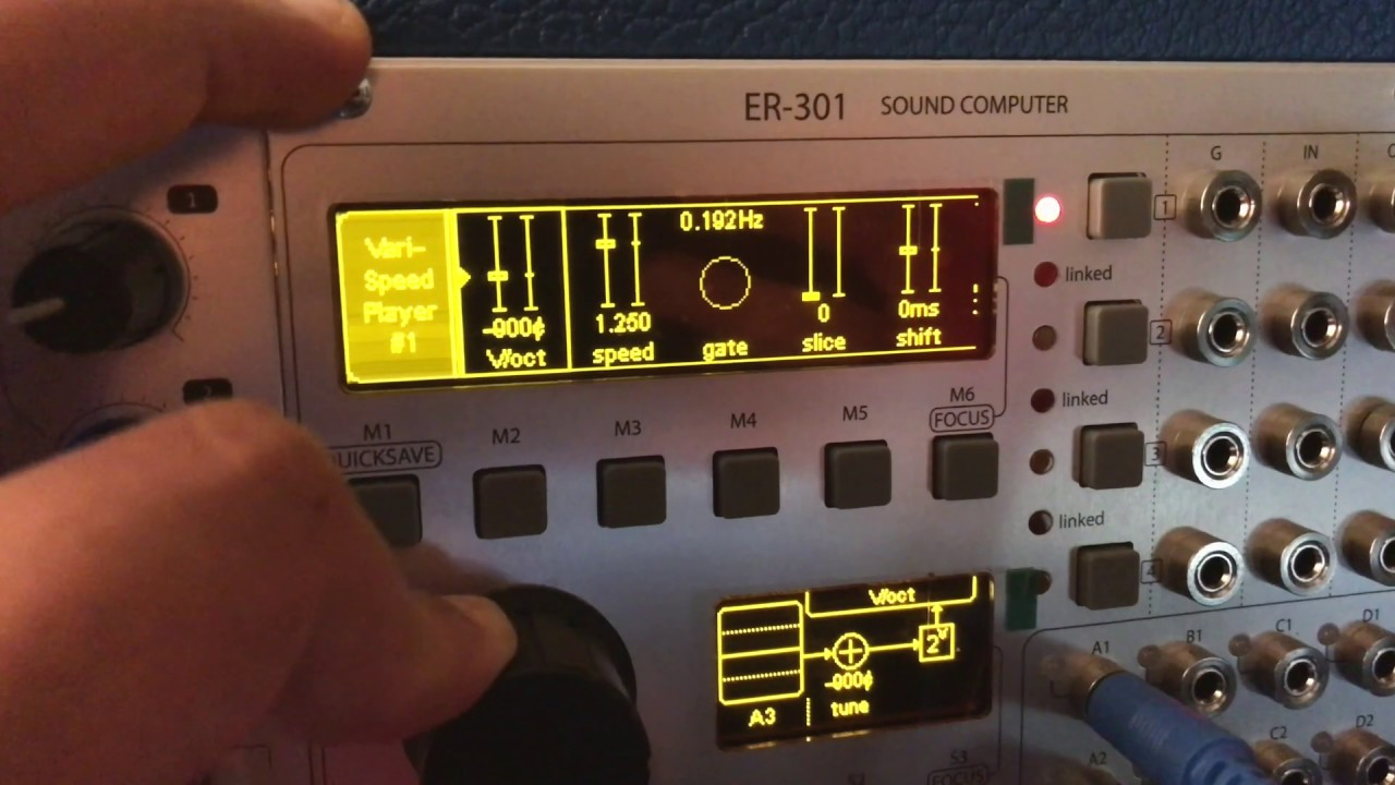 Eurorack Sound Design Experiment: Maths + ER 301 Sound Computer