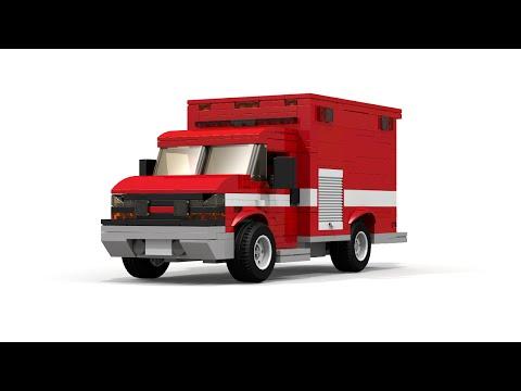 LEGO Chevrolet Express Fire Department Truck Instructions