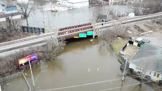 Kalamazoo Michigan Flooding Drone Footage