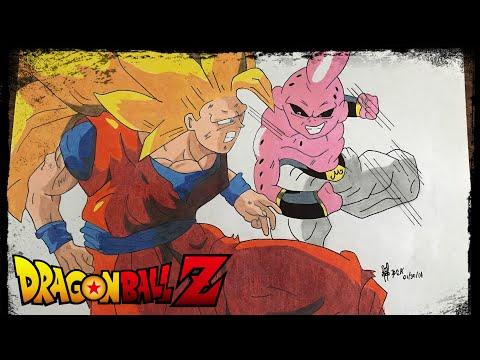 Drawing Dragon Ball Z: Goku vs Kid Buu #149