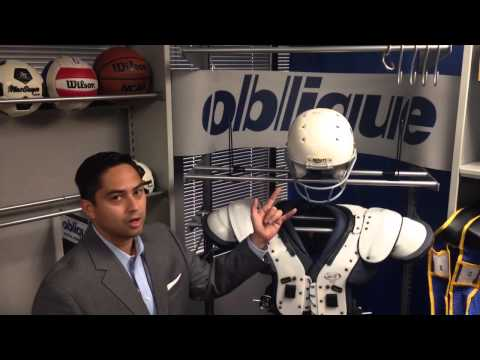 OBLIQUE's SHOULDER PAD & Other Football Equipment Storage Applications