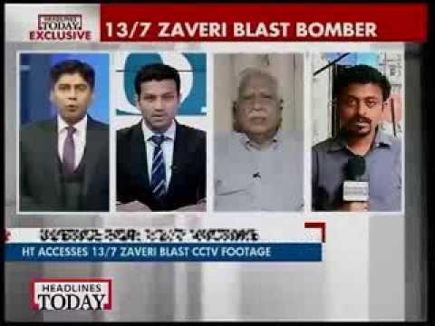 CCTV footage shows 13/7 terrorist planting bomb at Mumbai's Zaveri Bazaar