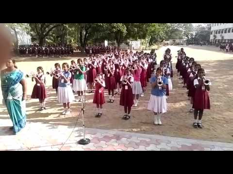 National anthem in st.joseph's girl's school in coimbatore