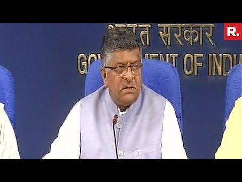 Ravi Shankar Prasad On Right To Privacy - Live