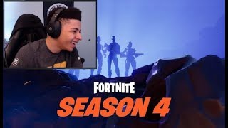 Myth reacts to Fortnite SEASON 4 BATTLE PASS + MAP