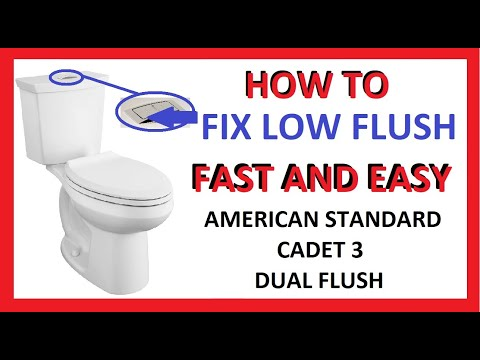How To Fix Low / Lite Flush Problem - American Standard Cadet 3 Dual Flush Toilet - Doesn't Work