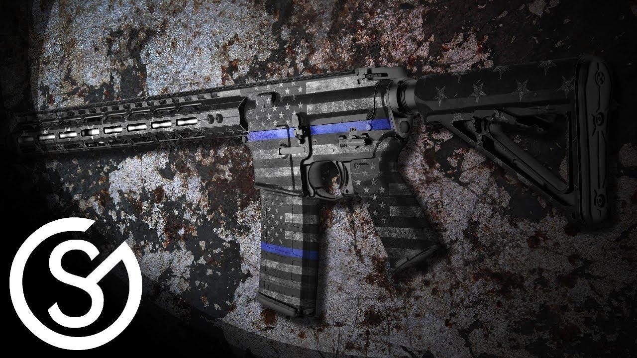 gunskins ar 15 rifle skin a2 style grip diy install tutorial youtube