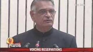 Shivraj Patil voices reservation concerns