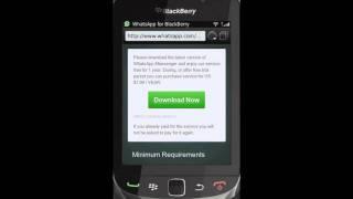 Hoe installeer je WhatsApp (Blackberry)