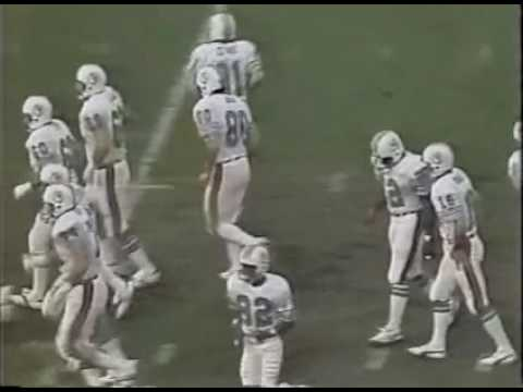 New England Patriots vs Miami Dolphins 1982 Wildcard Playoffs