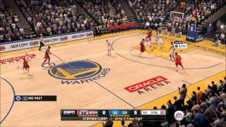 NBA Live 16 (PS4) Wizards at Warriors HD Gameplay