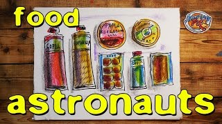 How to draw food astronauts / American Pie
