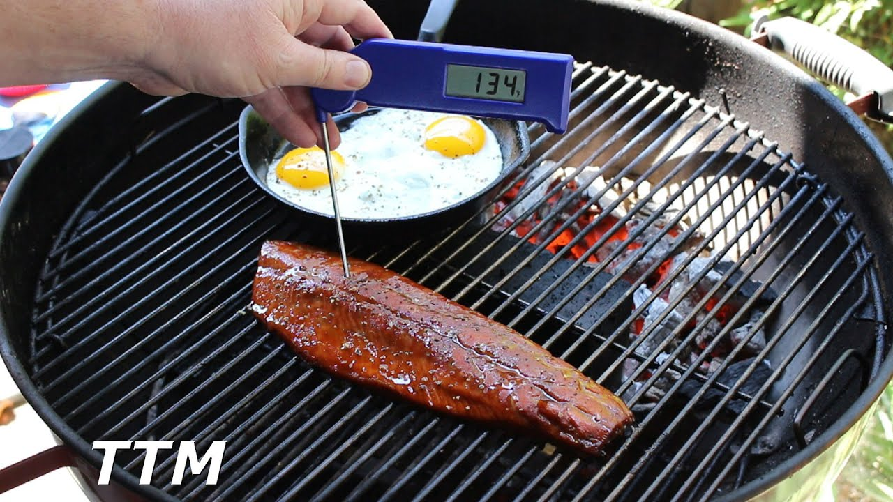 How To Cook Teriyaki Salmon On The Weber Kettle Grill~salmon And Eggs