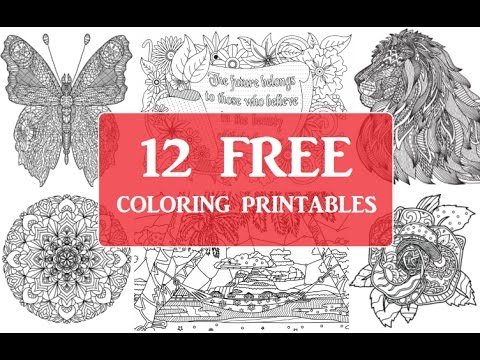 Download 12 Free Coloring Pages