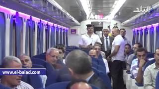 بالفيديو.. السكة الحديد تطلق أول قطار تصنيع محلي مكيف إلى الإسكندرية