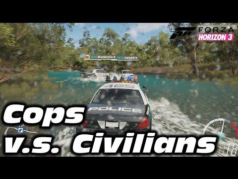 Forza Horizon 3 | Cops v Civilians Minigame: Part 1