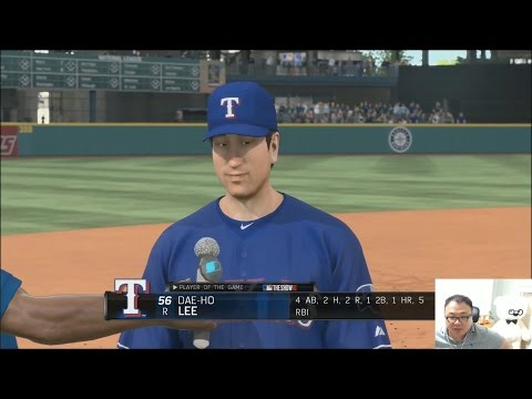 왕곰형] MLB THE SHOW 16 - TEXAS RANGERS 로 우승하기 9화 Seattle Marin