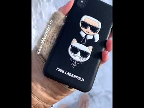 Чехол KARL Lagerfeld для IPhone XS Max PU Leather Karl And Choupette Booktype Black